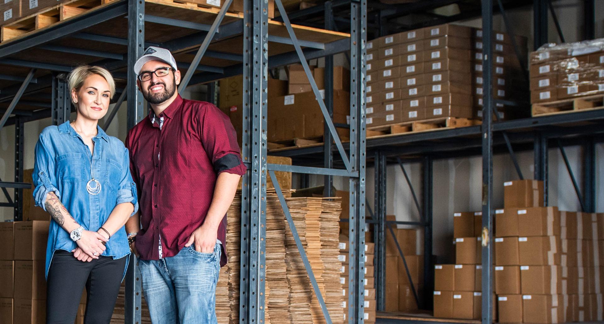Josh and Jenna Zwagil in Warehouse