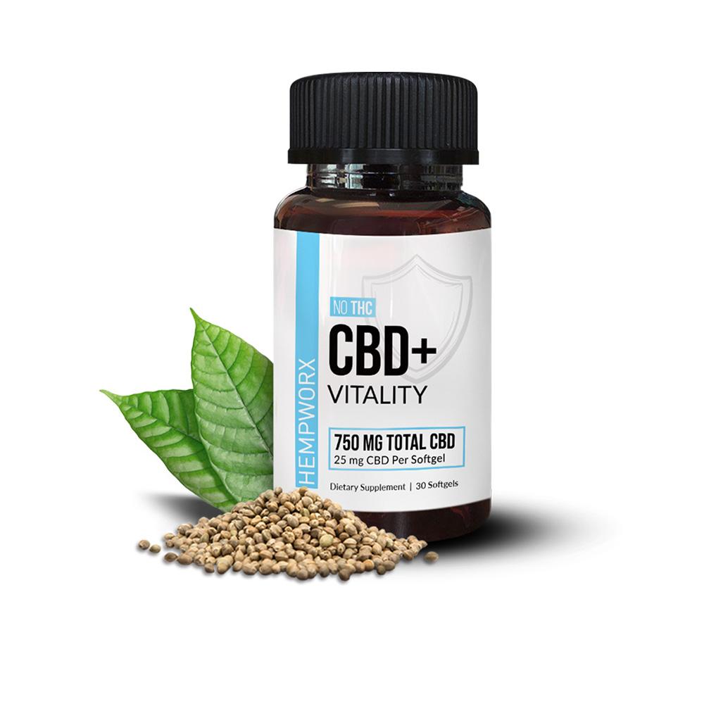 HempWorx Vitality Softgels CBD Oil Capsules