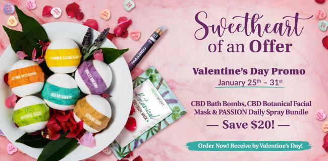 CBD Bath Bombs Sale Bundle for Valentines Day
