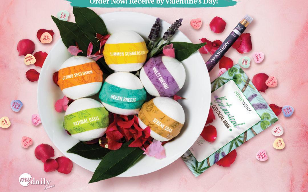 Valentine's Bundle: CBD Bath Bombs, Passion Spray (NEW) and More